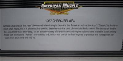 ERTL 57 CHEVY BEL AIR GOLD CHASE HARD TOP 1of2502 118