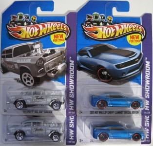 HOT WHEELS 55 Chevy Bel Air Gasser + 2013 Camaro Special Edition 1
