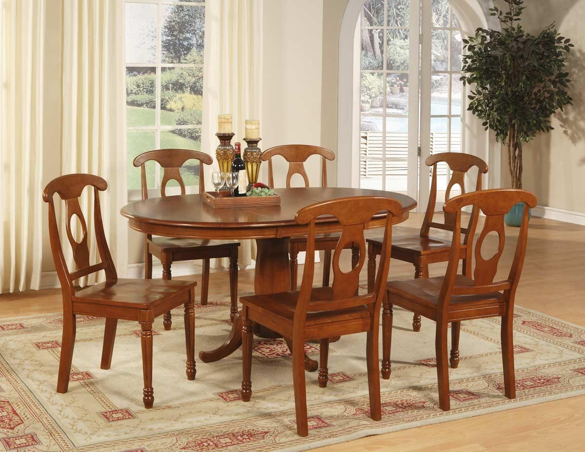 Setting Dining Room Table: 5-PC OVAL DINETTE DINING ROOM SET TABLE AND 4 CHAIRS