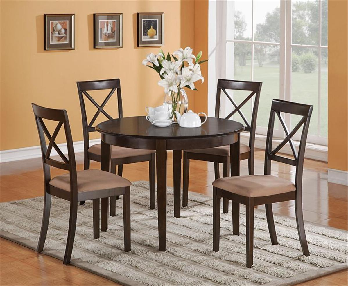 """3pc round kitchen dinette table 42""""x42""""  2 chairs in"""