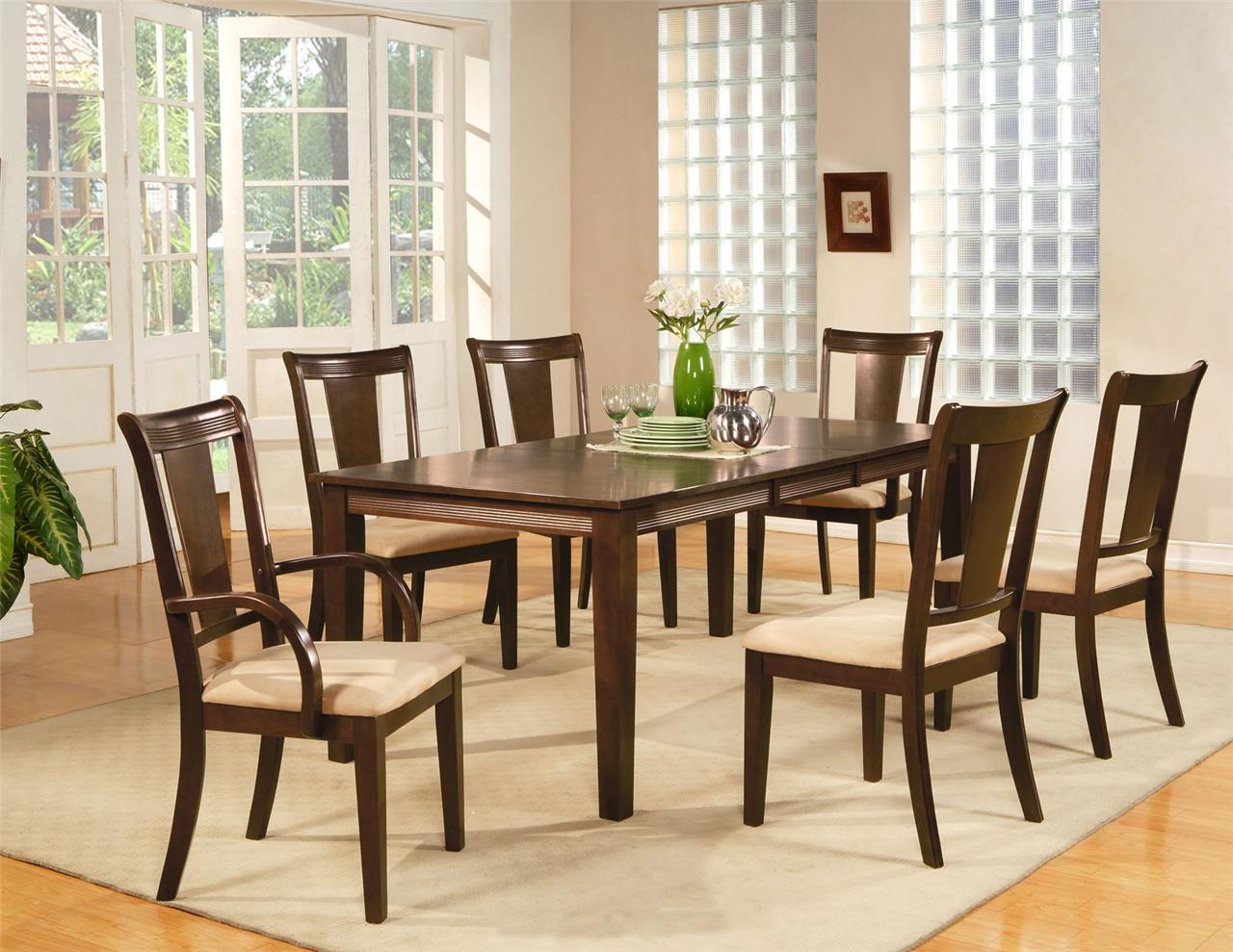 Setting Dining Room Table: 9PC RECTANGULAR DINING ROOM SET TABLE AND 8 CHAIRS