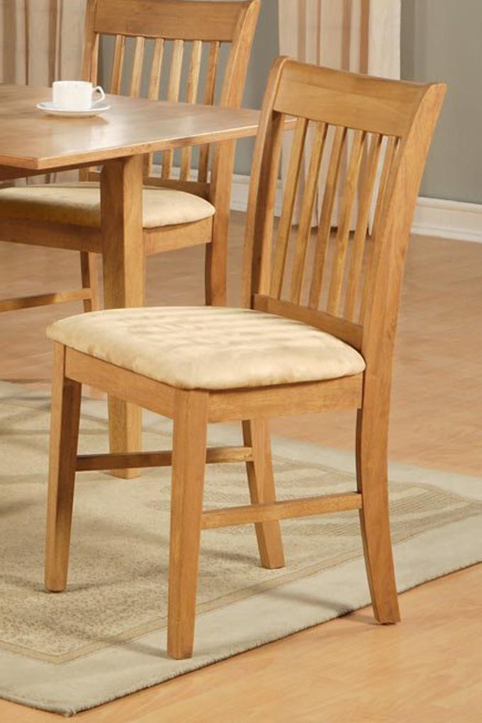 set of 6 norfolk dinette kitchen dining room solid wood chairs in oak finish ebay. Black Bedroom Furniture Sets. Home Design Ideas
