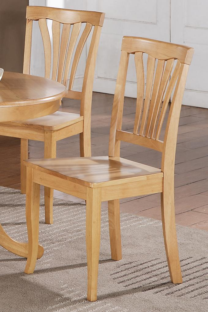 Set of 6 Avon Dinette Kitchen Dining Chairs with Wood Seat ...