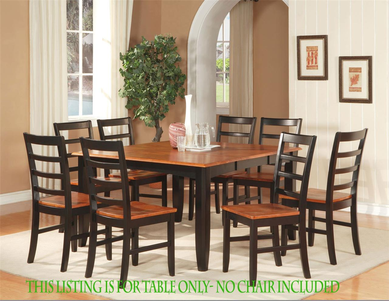 54 square dinette kitchen dining room table with 18 foldable leaf no chair ebay. Black Bedroom Furniture Sets. Home Design Ideas