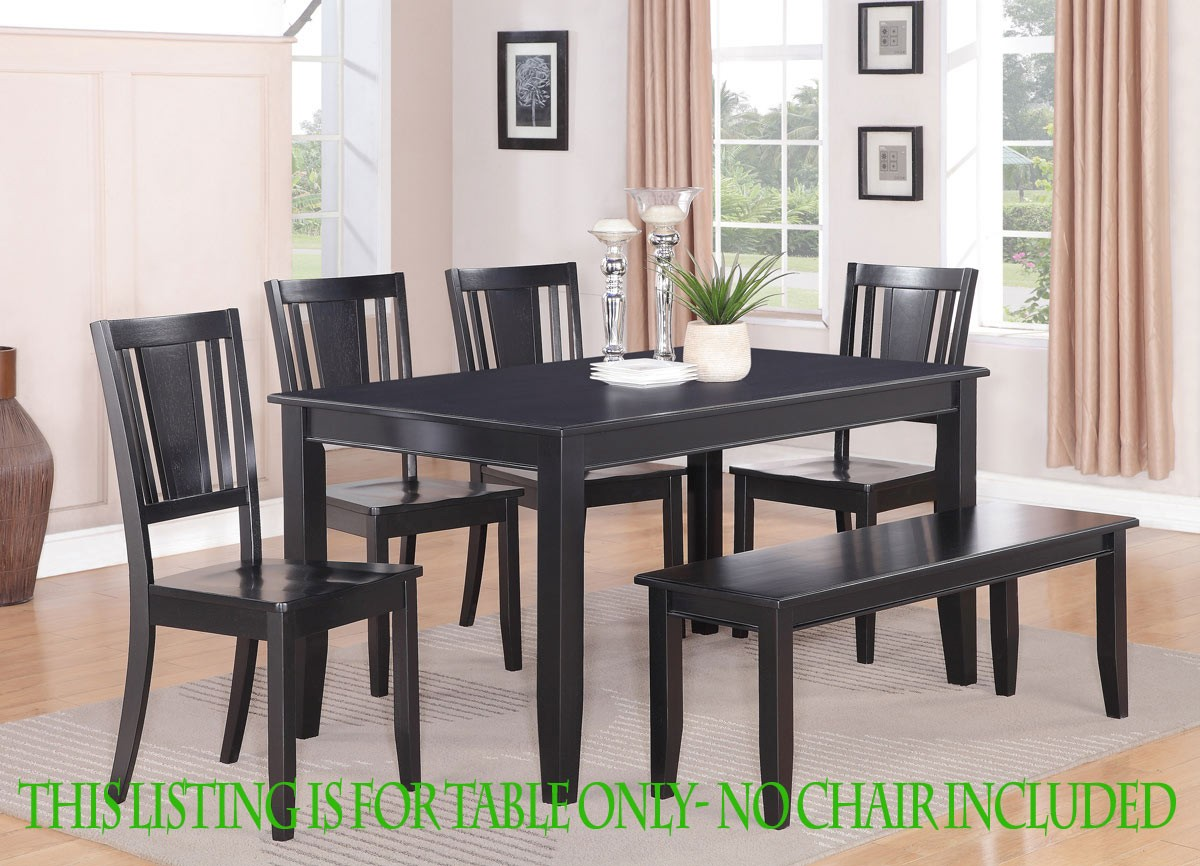 """rectangular dining room kitchen table in black 36""""x60""""no"""