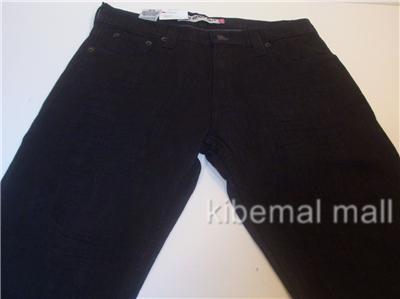 NWT Levi 527 Low Boot Cut Men Jeans Straight Fit Black Rigid Stretch Free SHIP