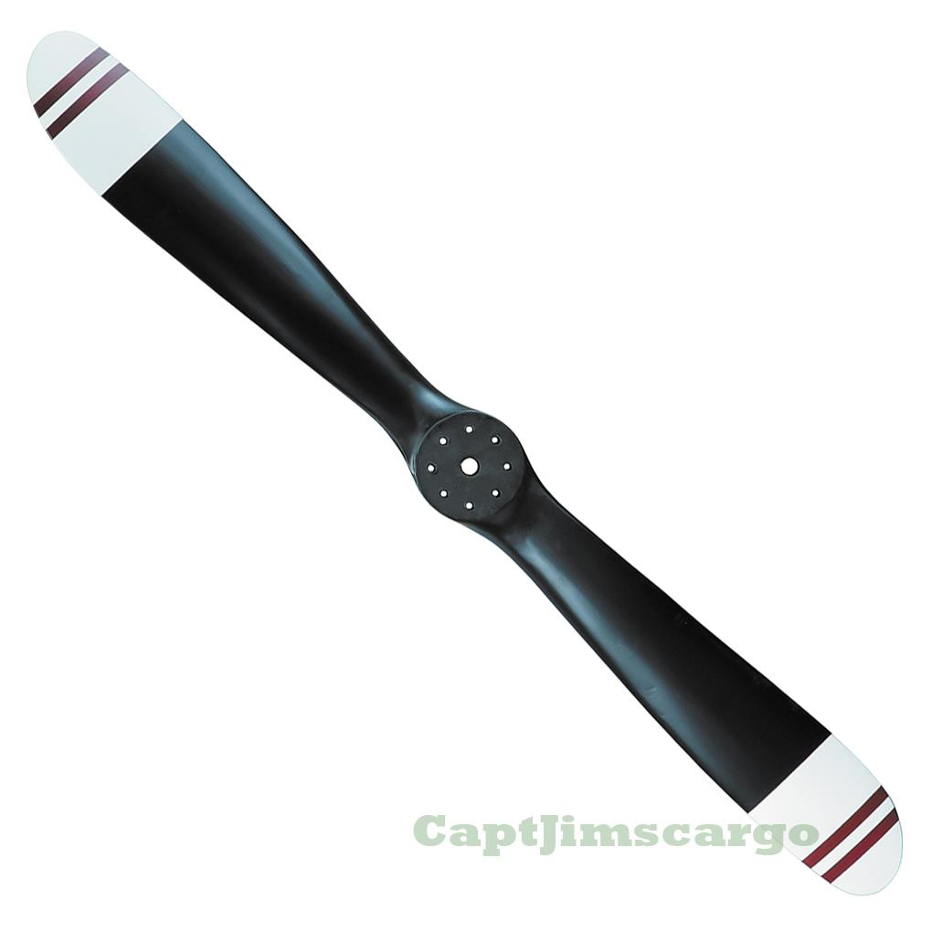 Small Sopwith Camel Wwi Wooden Propeller Black W Red