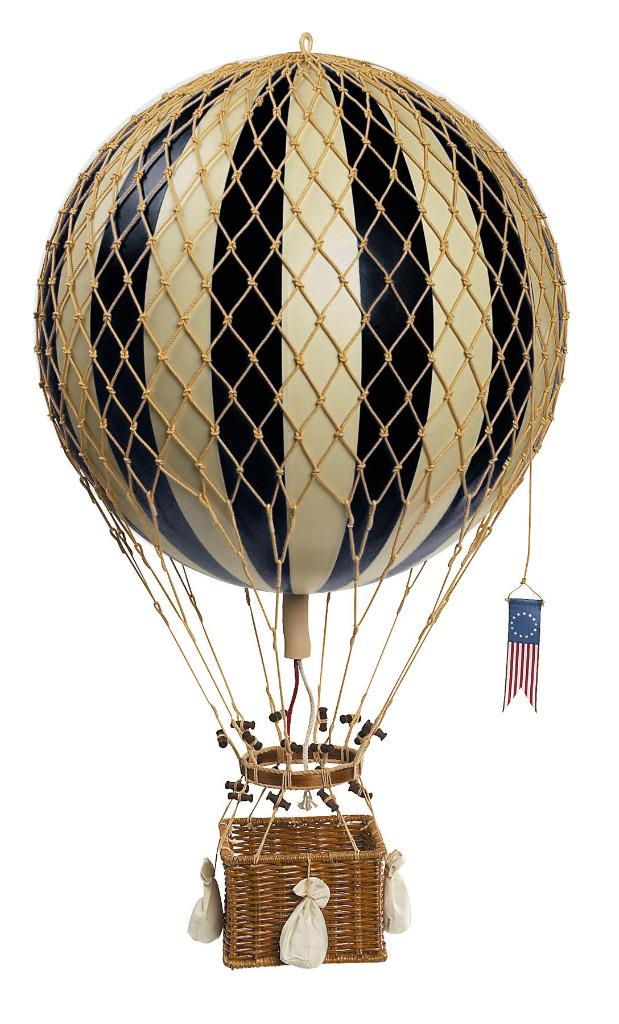 """Hot Air Balloon Model Pink /& Off White 13/"""" Aviation Hanging Ceiling Home Decor"""