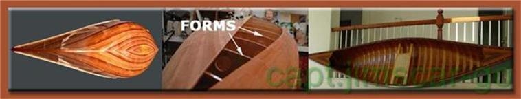 CONSTRUCTION OF CEDAR STRIP CANOE WOODEN MODELS
