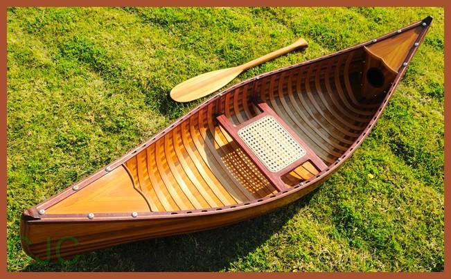 Display Cedar Wood Strip Canoe Model Boat Ribs
