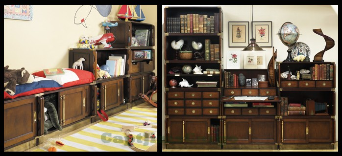Superior Military Campaign Style Furniture Modular Unit Systems