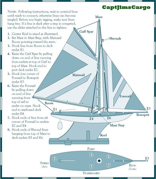Pond Yacht Rigging