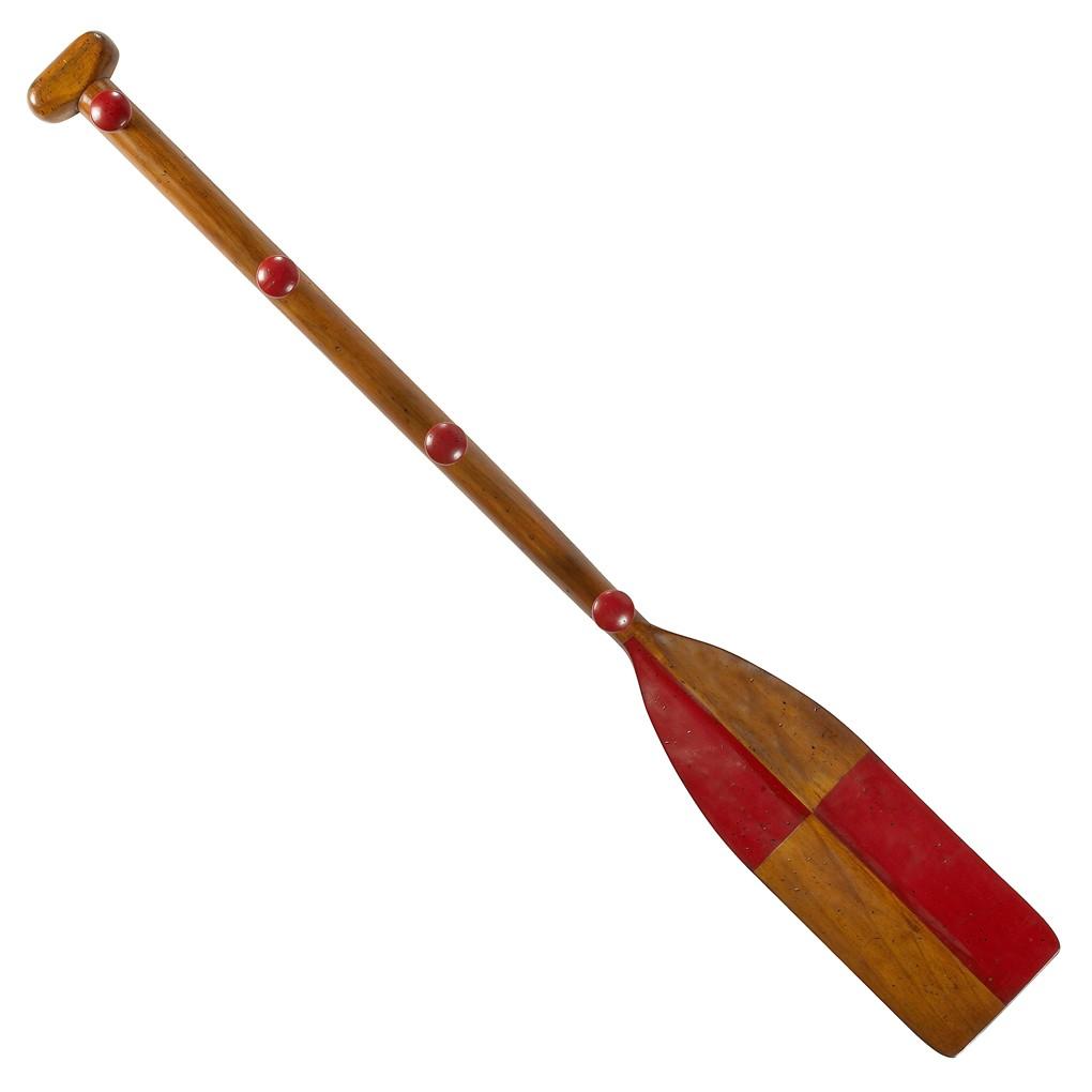 """Red Oar Paddle Kids Coat Rack 47"""" Wooden Children's Wall ...  Oar Paddle"""