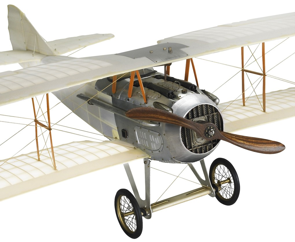Wwi Spad Transparent Biplane Hanging Airplane Wood Model
