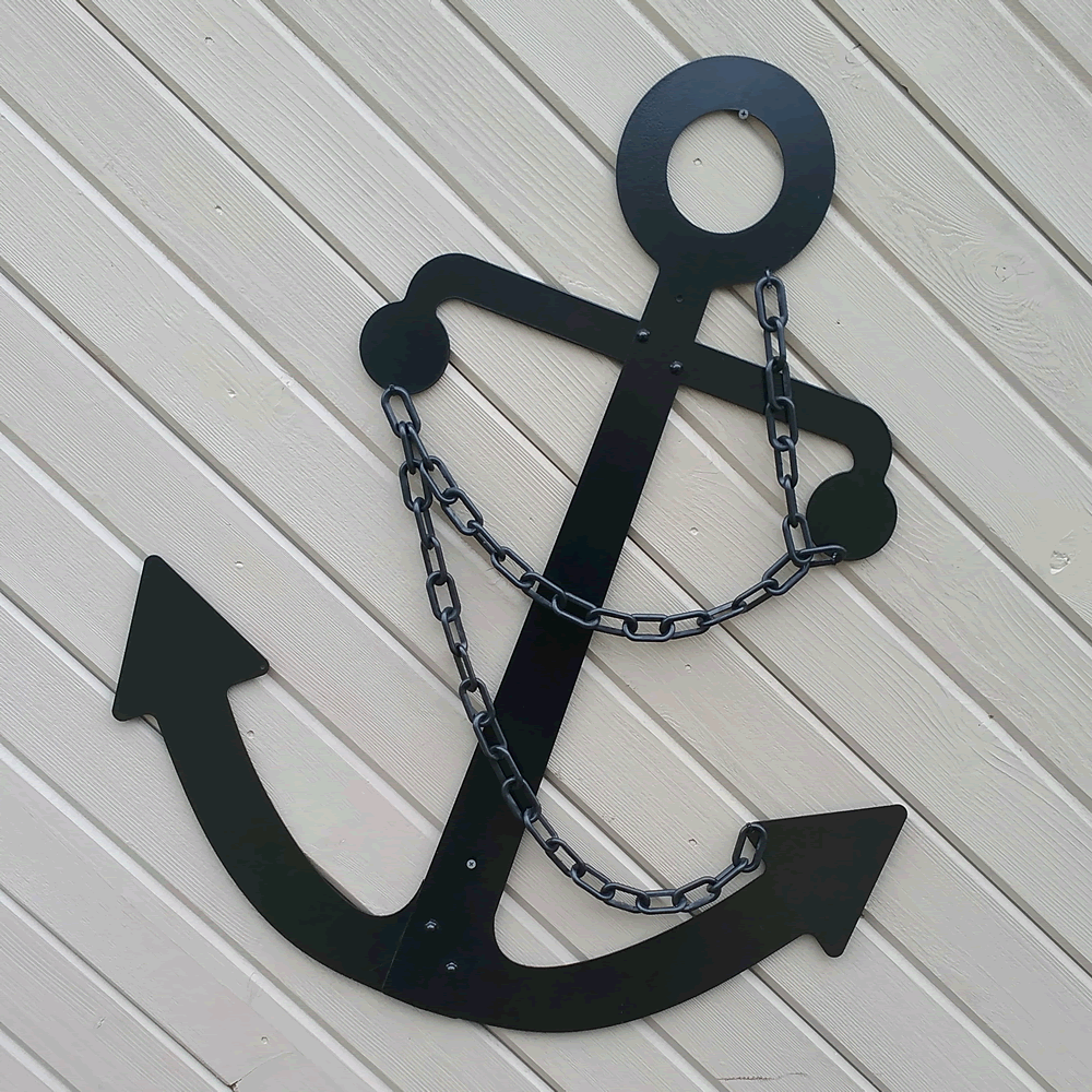 Admiralty Fisherman Anchor Wall Decor