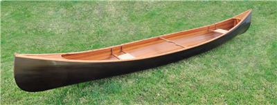Handmade Cedar Strip Built Canoe Black Woodenboat USA
