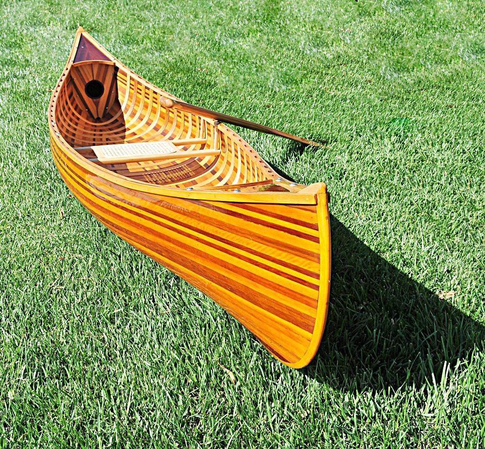 Display Cedar Strip Built Canoe Model Woodenboat USA