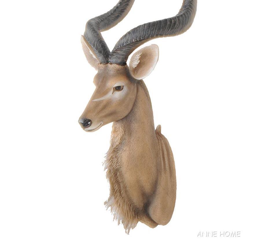 "Kudu Antelope Head Wall Mount Sculpture 33/"" Faux Africa Safari Home Decor Sale"