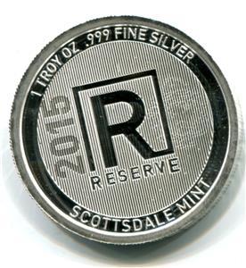 2015 Scottsdale Mint Reserve 1oz .999 Fine Silver Coin