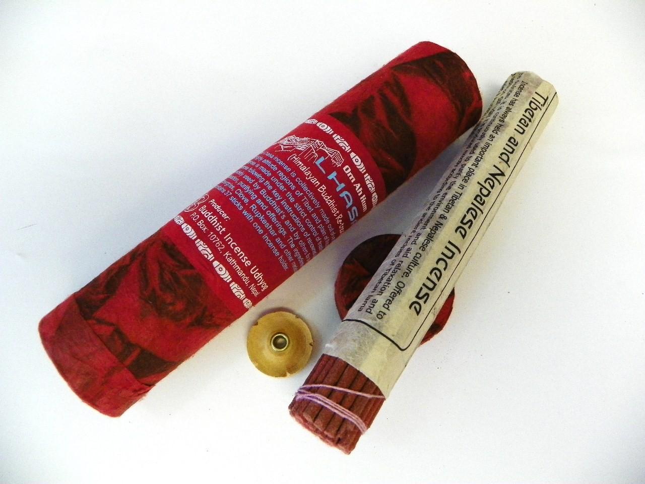 T621 HAND ROLLED TIBETAN NAGCHAMPA /& RED SANDALWOOD INCENSE STICKS 2PKT