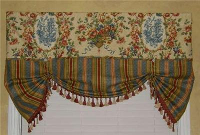 French Country Valance Tie Up Balloon Shade Curtain