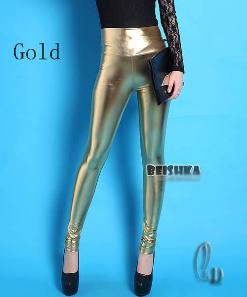 AU-STOCK-SHINY-METALLIC-COLOUR-HIGH-RISEPANTS-DANCE-DISCO-LEGGINGS-PANTS-P110