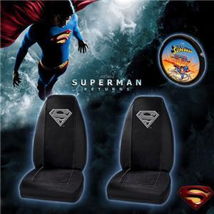 3 pc Superman Car SUV Mat Seat Cover Accessories Set | eBay