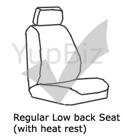 sample low back seat