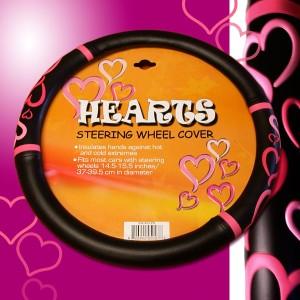 Hearts Steering Wheel Covers