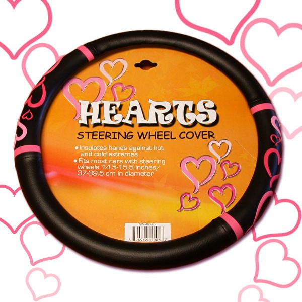 Hearts Steering Wheel Cover