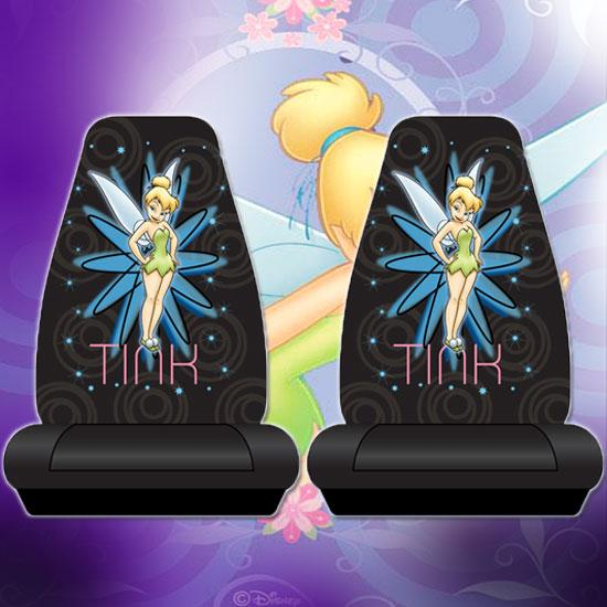 Pair Of Tinkerbell Pixie Power Car Truck Seat Covers