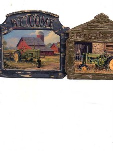 Wallpaper border vintage country tractor signs die cut ebay - Farmall tractor wallpaper border ...