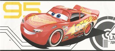 Wallpaper Border Disney Cars 3 Lightning Mcqueen Cruz Ramirez