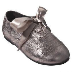 Toddler Girls Genuine Kids OshKosh Dagan Oxford Metallic Patent Dress