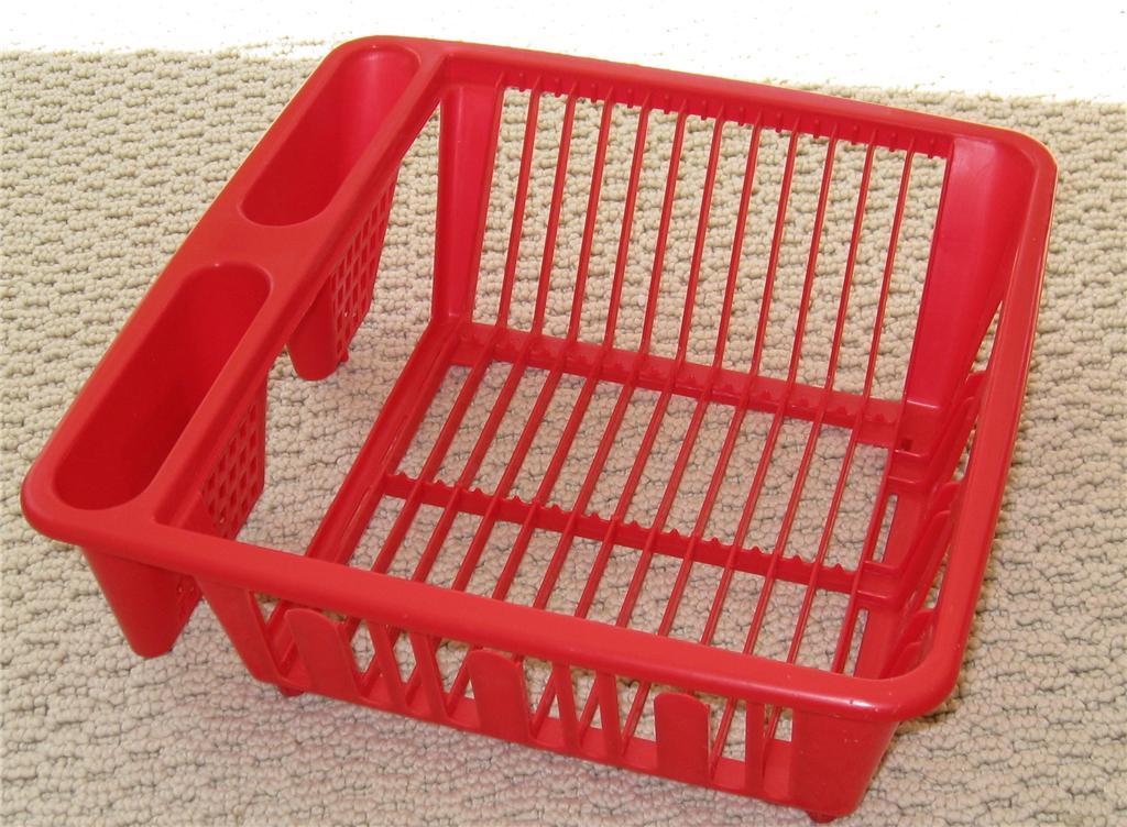 Red MINI KITCHEN SINK DISH DRAINER RACK DISHRACK RV | eBay