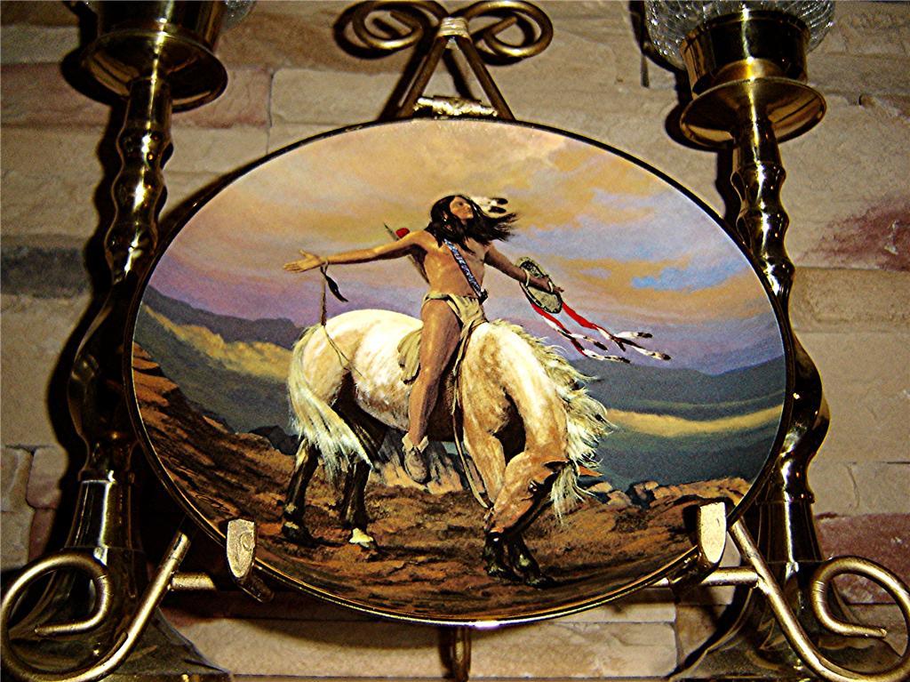 Hermon Adams Spirit Of The Skies American Indian Horse Franklin Mint Plate Ebay