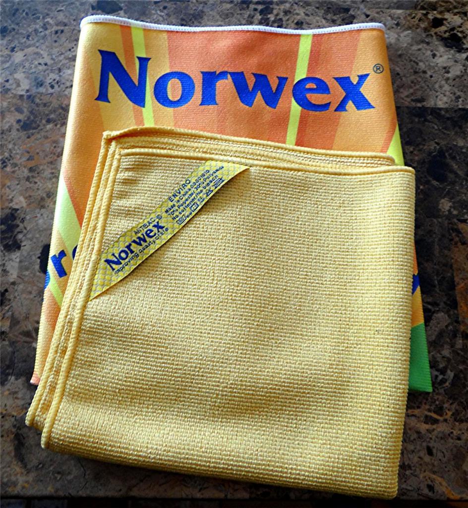 Norwex Window Cleaning: NORWEX ANTIBAC WINDOW POLISH CLOTH MICROFIBER ANTIBAC