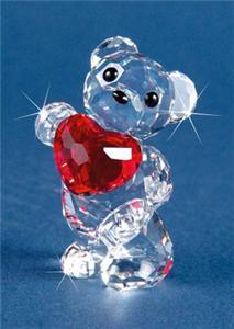 Swarovski Crystal Figurine Kris Bear A Heart For You