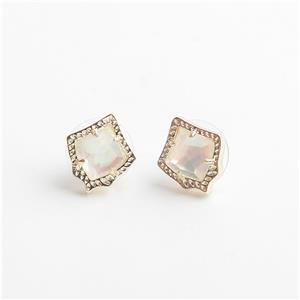 db656163d Kendra Scott Kirstie Gold Stud Earrings in Pearl | eBay