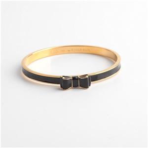 Kate Spade New York Take A Bow Bangle Bracelet Gold Black