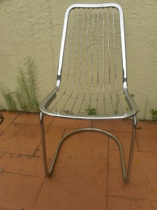 Vintage Mid Century Modern Chrome Cantilever Wire Chair