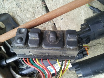 98 02 DODGE RAM POWER DRIVER SEAT TRACK WITH MOTORS & SWITCH ONLY