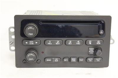 2003 2006 chevy sierra tahoe radio stereo am fm aux in cd. Black Bedroom Furniture Sets. Home Design Ideas