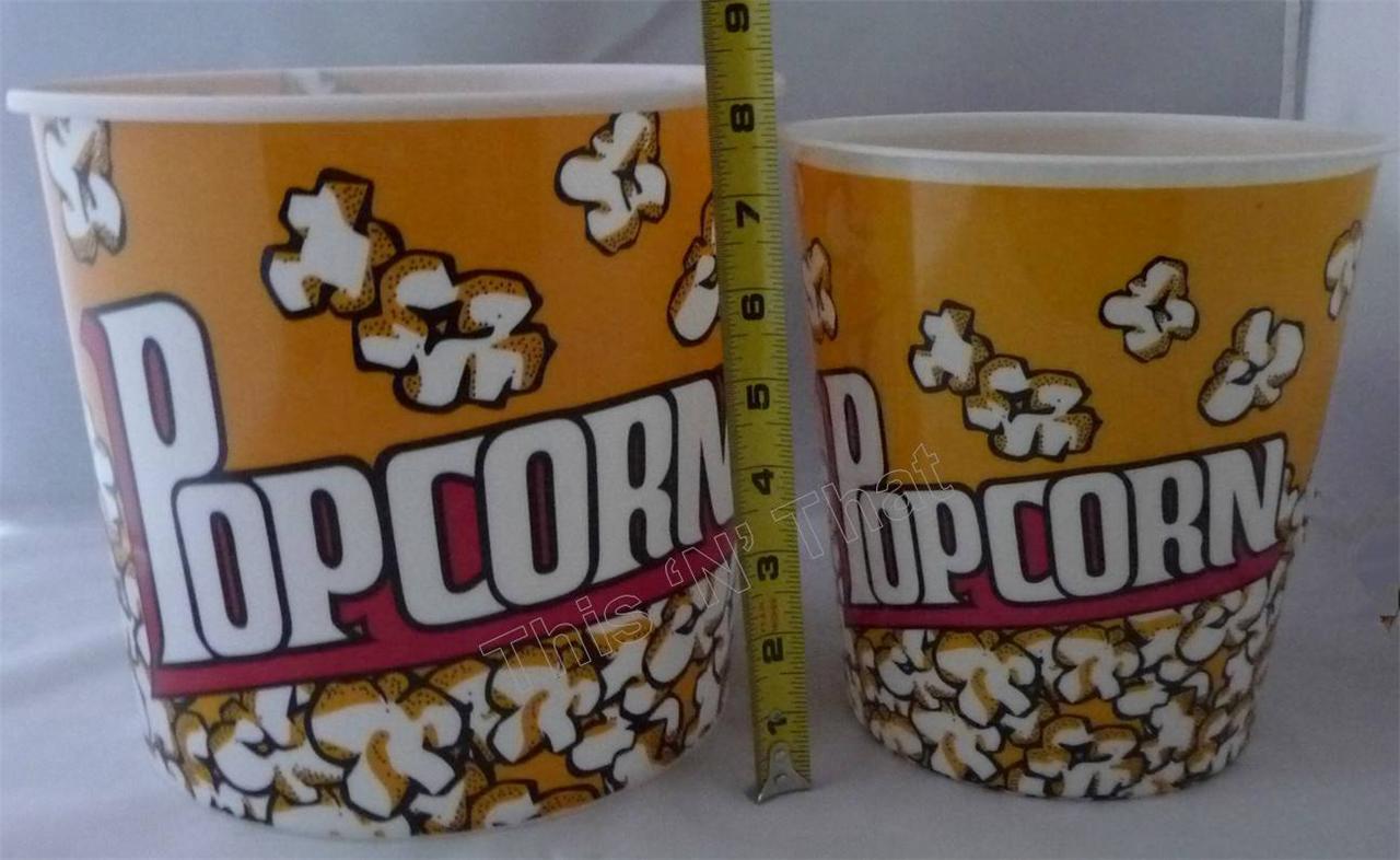 Bpa Free Plastic Popcorn Bowl Medium Or Large Container
