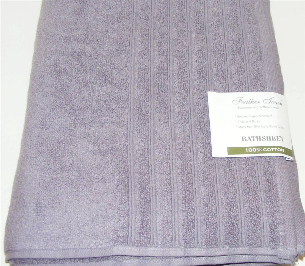 Bath Towel Sets Feather: NEW Feather Touch BATH SHEET/Body Towel Long Staple COTTON