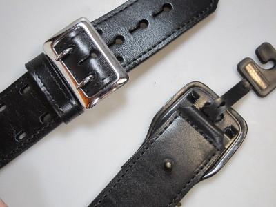"K59 Size 34/"" Brass Buckle G/&G Plain Black Sam Browne 2.25/"" Police Duty Belt"
