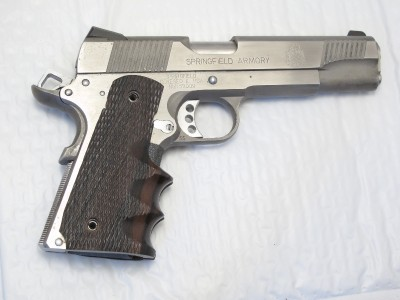 Custom Combat Wood Gun Grips COLT 1911 45 9mm Government & Commander | eBay