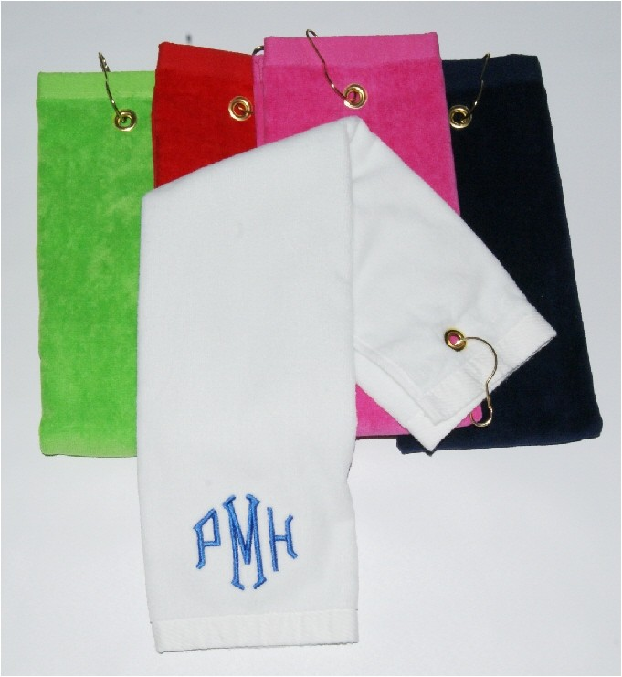 Golf Hand Towel Trifold W/Hook Personalized Monogrammed