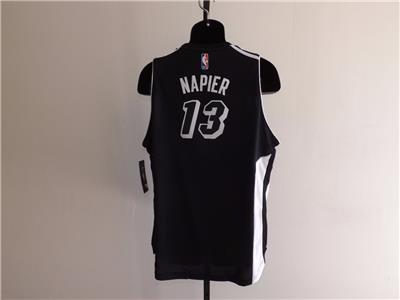 Brooklyn Nets #13 Shabazz Napier Icon Black Swingman Jersey