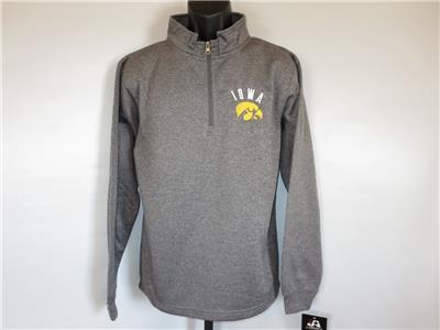 New Iowa Hawkeyes Womens sizes M-L-XL black 1//4 zip sweater by J.America